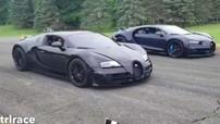 """2 """"ông hoàng tốc độ"""" nhà Bugatti so kè trên đường đua thẳng, kết quả làm giới mê xe bất ngờ"""