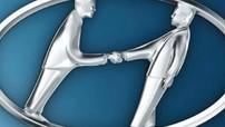Logo Hyundai là dựa theo hình hai người đàn ông... bắt tay nhau