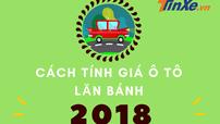 Infographic: Cách tính giá lăn bánh cho ô tô mới nhất 2018