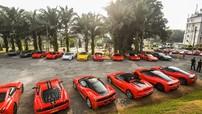 Hơn 50 siêu xe Ferrari tụ tập tại Singapore