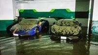 """Cặp đôi siêu xe Lamborghini""""xấu số"""" tại Hồng Kông vẫn không thoát khỏinước lũ"""