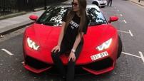 Siêu xe Lamborghini Huracan đính 1,3 triệu viên pha lê của Daria Radionova gây náo loạn ở Pháp
