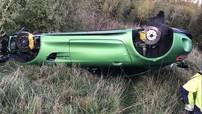 Kinh hoàng vụ tai nạn của siêu xe Mercedes-AMG GT R tại Thụy Điển