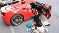 """Bà chủ showroom xe sang tại Hà Nội gây choáng với bức ảnh """"ngã sấp mặt"""" bên Ferrari 488 Spider"""