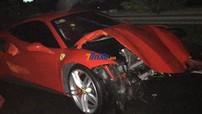 Siêu xe Ferrari 488 GTB của Tuấn Hưng gặp nạn ở cao tốc Nội Bài - Lào Cai