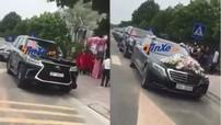 """Hơn 10 chiếc SUV """"khủng"""" cùng xe siêu sang Mercedes-Maybach S600 rước dâu tại Vĩnh Phúc"""