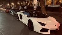"""Siêu xe Lamborghini Aventador mui trần từng của Cường """"Đô-la"""" đi chơi Halloween tại Hà Nội"""