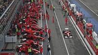 Dàn xe F1 của đội đua Ferrari khuấy động tại đường đua Autodromo Nazionale Monza