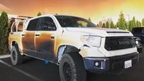 Bị hỏng ô tô khi sơ tán các bệnh nhân trong thảm kịch cháy rừng California, nam y tá được hãng Toyota tặng chiếc Tundra mới