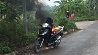 Đại lộ Thăng Long: Xe Honda SH bốc cháy dữ đội vì thói quen này