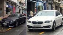 """Cặp đôi xe sang Mercedes-Benz C-Class và BMW 5-Series cùng bị """"vặt gương"""" trong cơn bão số 9"""