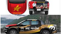 """Diễn viên Hồng Đăng """"thay áo"""" cho Ford Ranger Wildtrak Bi-Turbo để cổ vũ đội tuyển Việt Nam"""