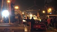 """Nẹt pô """"khạc lửa"""" quá hăng say, siêu xe Lamborghini Aventador LP700-4 mui trần gặp sự cố lần thứ 2"""