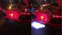 """Ăn mừng Việt Nam vô địch AFF Cup 2018, siêu xe từng cháy tại Đà Nẵng vẫn tiếp tục nẹt pô """"khạc lửa"""" ấn tượng"""