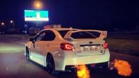 """Sedan hiệu suất cao Subaru WRX STI đeo biển Sài thành vừa chạy vừa """"phun lửa"""""""