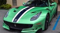 """Siêu phẩm """"triệu đô"""" Ferrari F12tdf trở lại với bộ áo xanh tuyệt đẹp"""