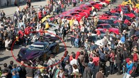 Siêu xe triệu đô Apollo Intensa Emozione lần đầu đến Nhật Bản đã được hàng trăm siêu xe đón tiếp