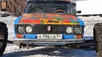 Bái phục chiếc Lada với bộ la-zăng 38-inch khổng lồ có thể drift trên tuyết của người Nga