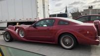 Khó ai có thể tin rằng chiếc xe độ quái dị này vốn là Ford Mustang