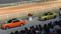 """Đại gia Dũng """"Lò Vôi"""" khoe 2 chiếc xe siêu sang Bentley và Rolls-Royce hơn 65 tỷ đồng tại đường đua Đại Nam"""