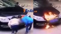 Nghịch dại pháo làm ô tô bốc cháy, 2 đứa trẻ khiến bố mẹ vào tình thế phải đền bù