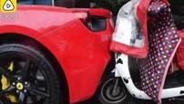 Nữ sinh viên chạy xe điện tông trúng siêu xe Ferrari không bị bắt đền số tiền 700 triệu đồng