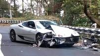 """Đua với xe thể thao trên đèo, siêu xe Ferrari 360 Modena gặp tai nạn """"nát đầu"""""""