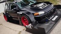 Rớt quai hàm trước chiếc Honda Civic Turbo V6 độ cả tá trang bị khí động học