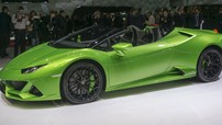 """Tắc kè"" Lamborghini Huracan Evo mui trần khoe dáng tại triển lãm Geneva 2019"