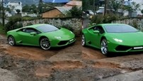 """Siêu xe Lamborghini Huracan vất vả vượt qua đoạn dốc off-road khiến không ít người """"thót tim"""""""