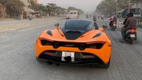 Là chiếc thứ 3 về Việt Nam nhưng siêu xe McLaren 720S màu cam mới là chiếc đầu tiên ra biển trắng