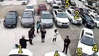 Loay hoay tìm chỗ trong bãi đỗ xe, nữ tài xế đâm liên hoàn 6 chiếc ô tô
