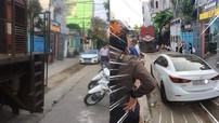 Đà Nẵng: Đỗ xe giữa đường ray khiến đầu máy tàu hỏa không thể quay đầu, tài xế lái Mazda3 bị phạt 4 triệu đồng