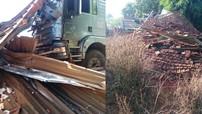 Bình Phước: Xe ben đâm sập nhà dân bên đường khiến 2 vợ chồng thiệt mạng