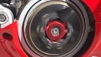 Siêu mô tô Ducati Panigale V4R trang bị nồi khô và pô Akrapovic có âm thanh ra sao
