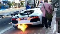 """Thích thú vì mua được Lamborghini Aventador, doanh nhân Bình Dương liên tục nẹt pô siêu xe """"khạc lửa"""""""