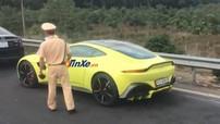 """Siêu xe Aston Martin V8 Vantage 2018 của doanh nhân quận 12 bị cảnh sát """"tuýt còi"""""""