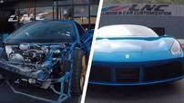 Chứng kiến siêu xe Ferrari 488 Spider bị vỡ nát phần đầu được sửa chữa như mới