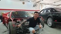 Tuấn Hưng nôn nóng chờ ngày siêu xe Ferrari 488 GTB tai nạn tái xuất với ngoại thất long lanh