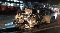 Lâm Đồng: Xe khách Thành Bưởi đấu đầu ô tô 4 chỗ, một CSGT tử vong