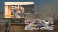 Nhà kho bốc cháy thiêu rụi hàng trăm chiếc xe quý hiếm ước tính trị giá 1.400 tỷ Đồng