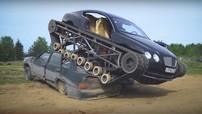 """Chứng kiến khả năng nghiền nát xe khác và đạt 96 km/h của """"xe tăng Bentley"""" ở nước Nga"""