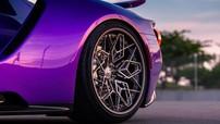 Siêu xe Ford GT màu tím trở nên chất lừ với bộ la-zăng titan in 3D cực tinh vi