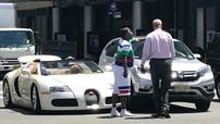Sao Hollywood tức điên vì chiếc Bugatti Veyron mui trần mới mua bị người phụ nữ lái Honda CR-V tông vào