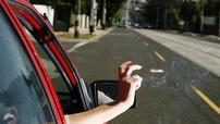 Tài xế bị phạt 10 triệu Đồng vì vô ý thức ném đầu thuốc lá ra khỏi cửa sổ xe