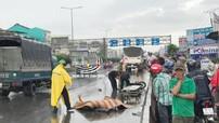 Đồng Nai: Chạy vào làn ô tô, 2 thanh niên đi xe máy tông vào xe tải, tử vong
