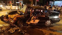 Sơn La: Hai ô tô đối đầu nhau trong đêm, 4 người bị thương nặng