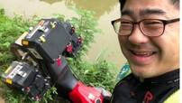 Phượt thủ người Hàn Quốc cưỡi Kawasaki Versys-X 300 lao xe xuống hồ nước ở Trạm Tấu - Yên Bái