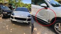 Nghệ An: SUV hạng sang Porsche Cayenne móp cửa khi bị Isuzu đâm ngang sườn xe