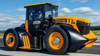 """JCB Fastrac 8000 - """"Siêu máy cầy"""" đạt kỷ lục tốc độ nhanh nhất thế giới với 166,7 km/h"""